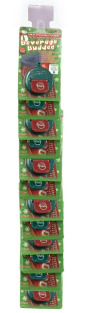Beverage Buddee - Christmas - Hang Strip - 1 Pack - 12 Count