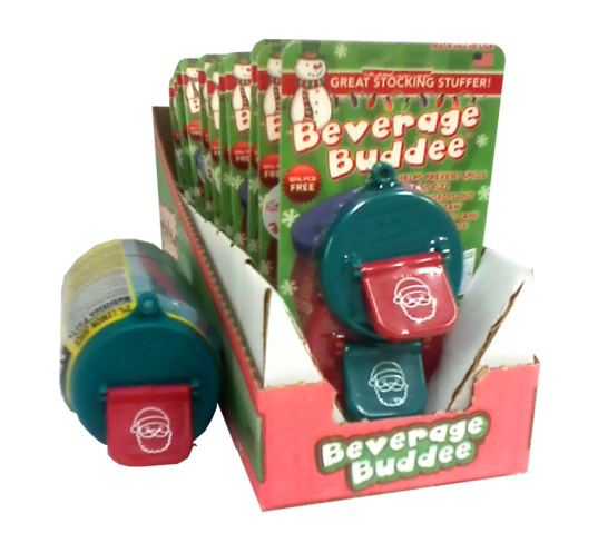 Beverage Buddee - Christmas - Shipper Display - 2 Pack - 12 Count